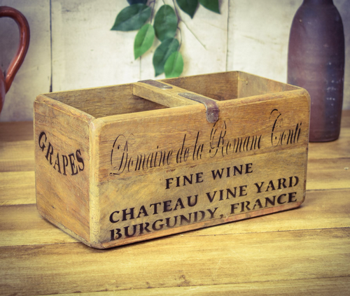Medium Vintage Box French Wine
